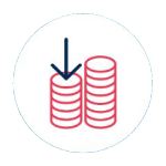 Lower capital cost icon