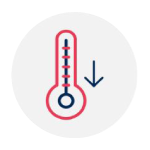 Lower overheating risk icon