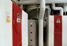 Heat pumps installed and in operation
