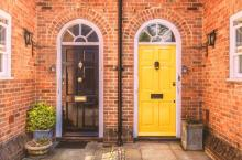Two residential front doors