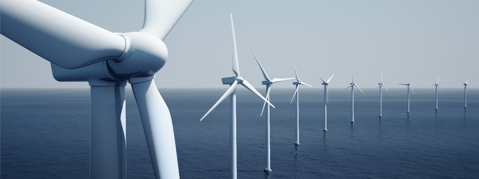 Windturbines on the ocean